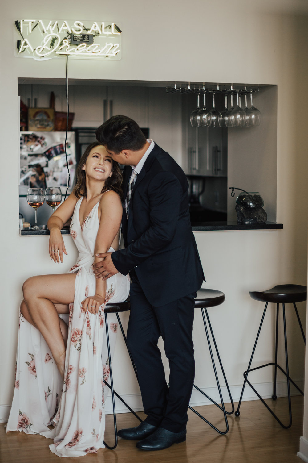 nyc in home engagement photography
