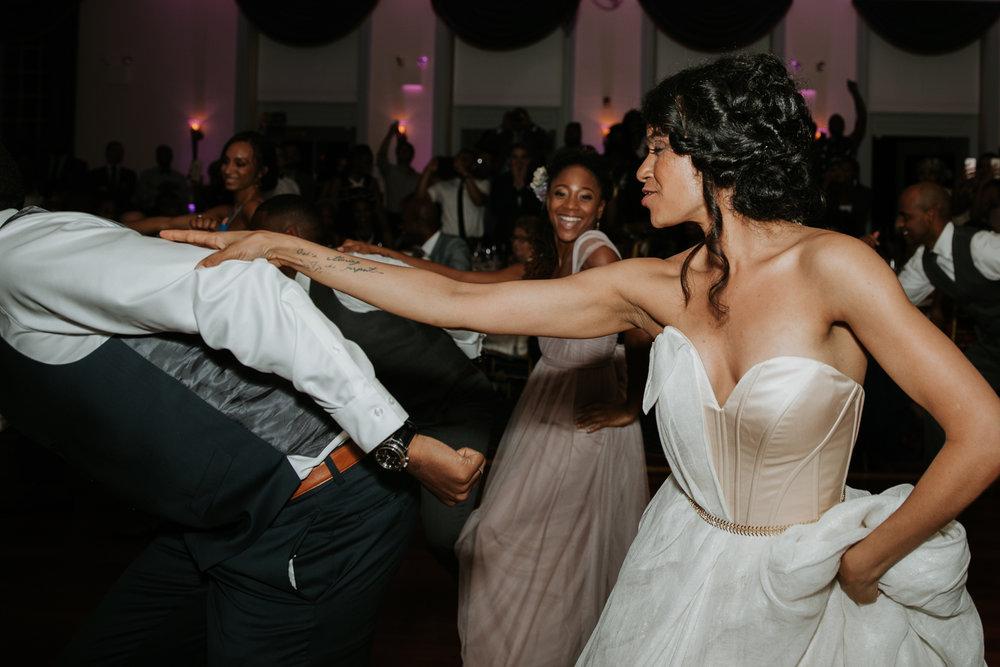 choreographed dance at wedding