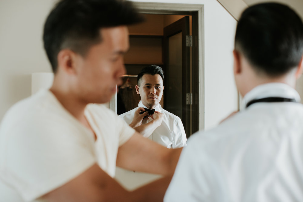 four seasons getting ready wedding