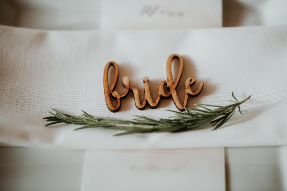 boho modern wedding decor