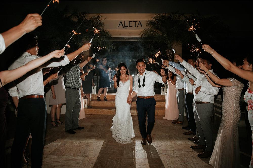 sparkler exit destination wedding