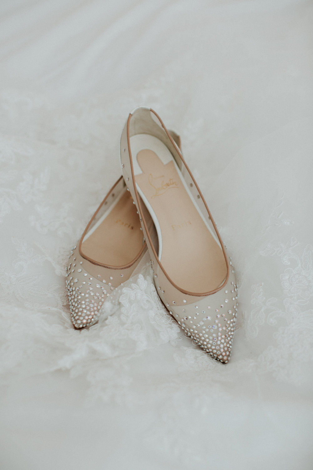 louboutin flats wedding