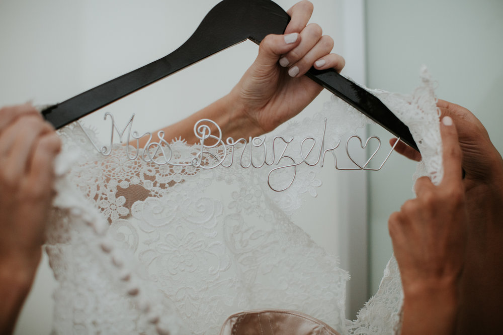 bridal hanger with last name