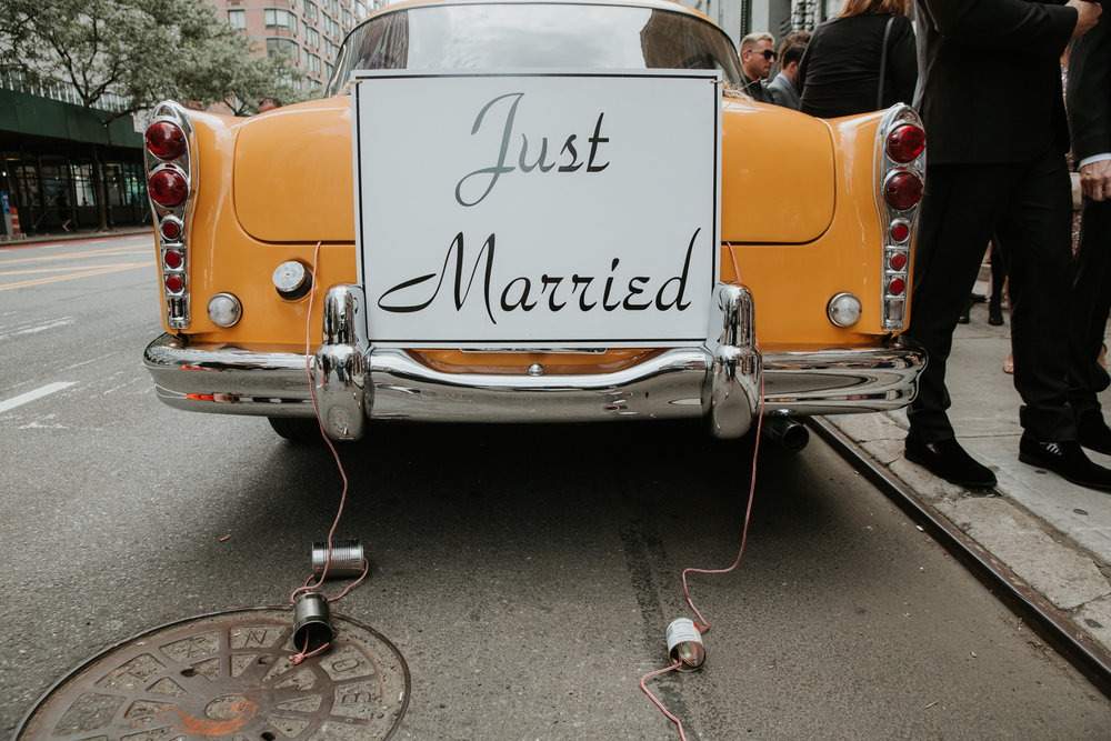 just married taxi nyc