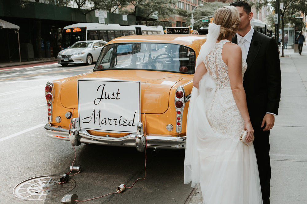 vintage wedding taxi nyc