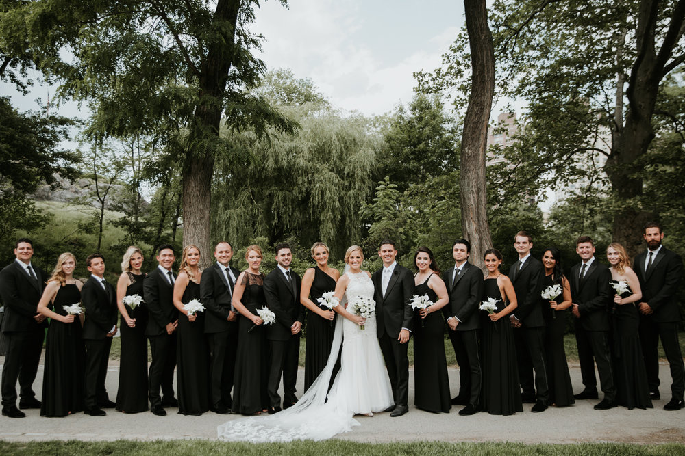 bridal party in central park