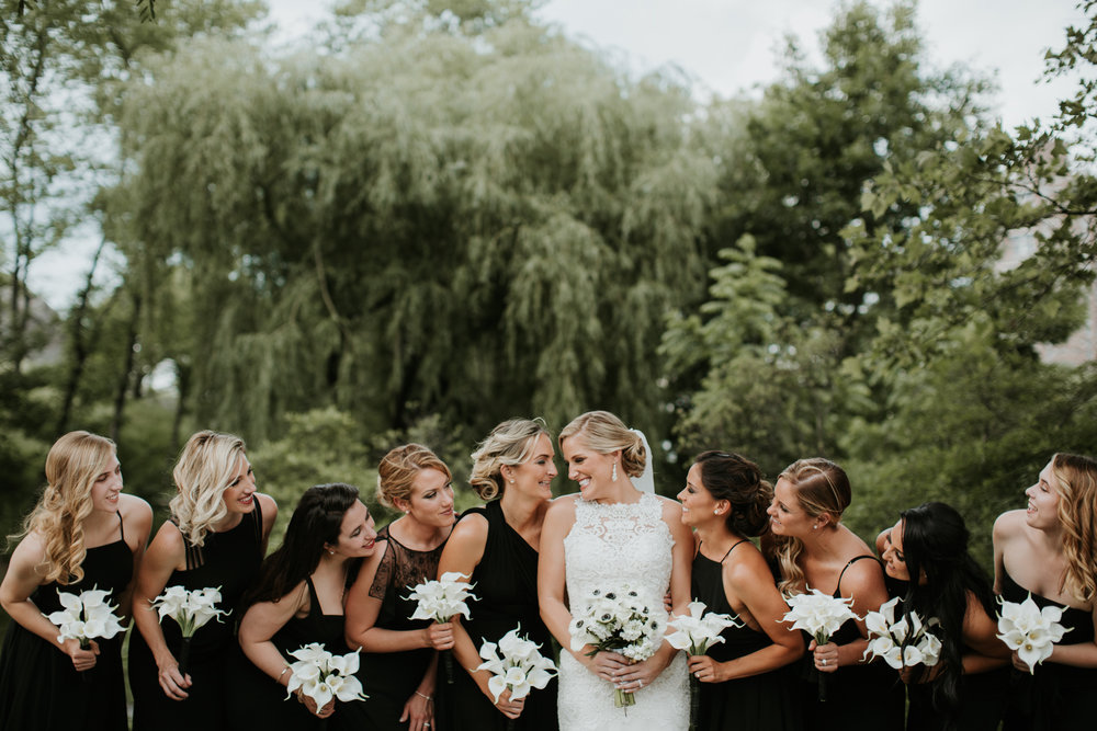 bridesmaids in central park