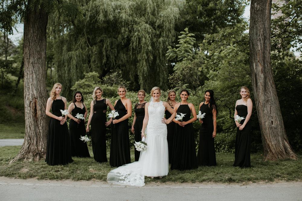 bridal party central park