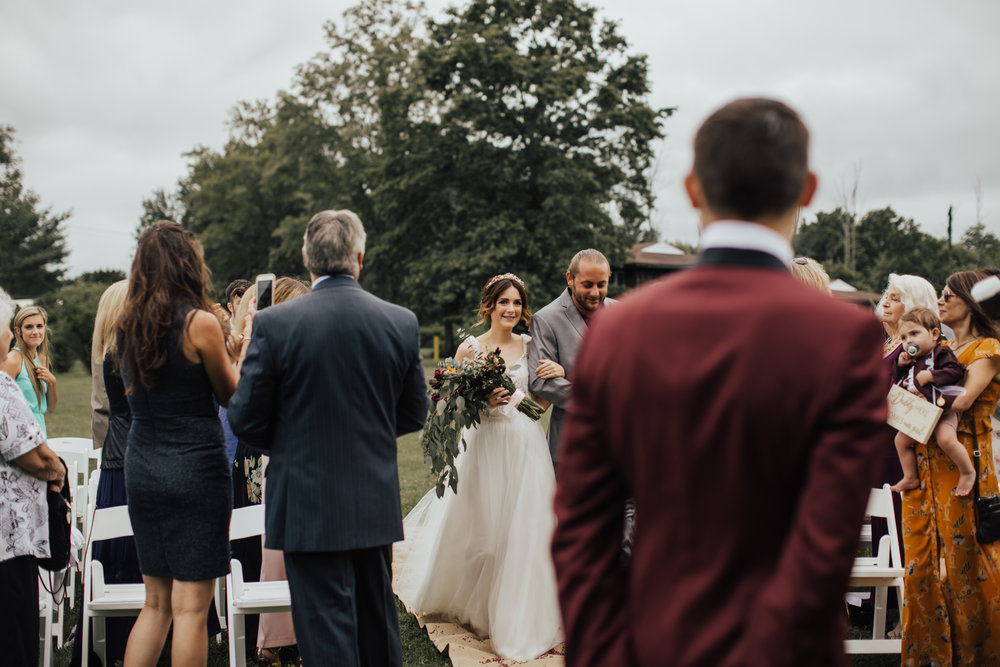 outdoor summer boho wedding