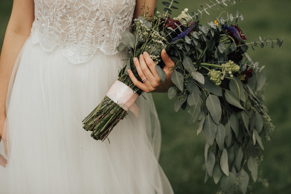 overflowing bridal bouquet