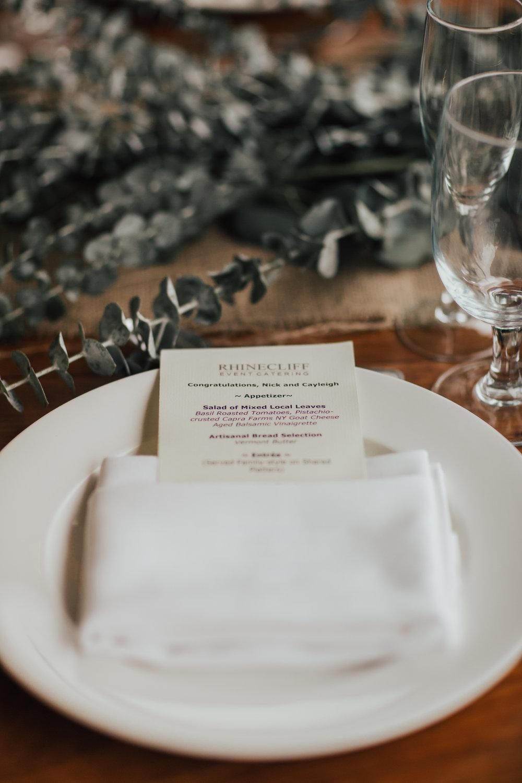 rustic table design wedding