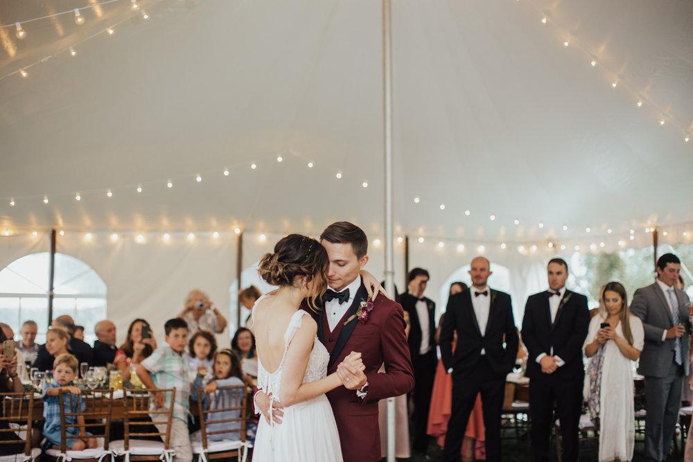 first dance under white tent