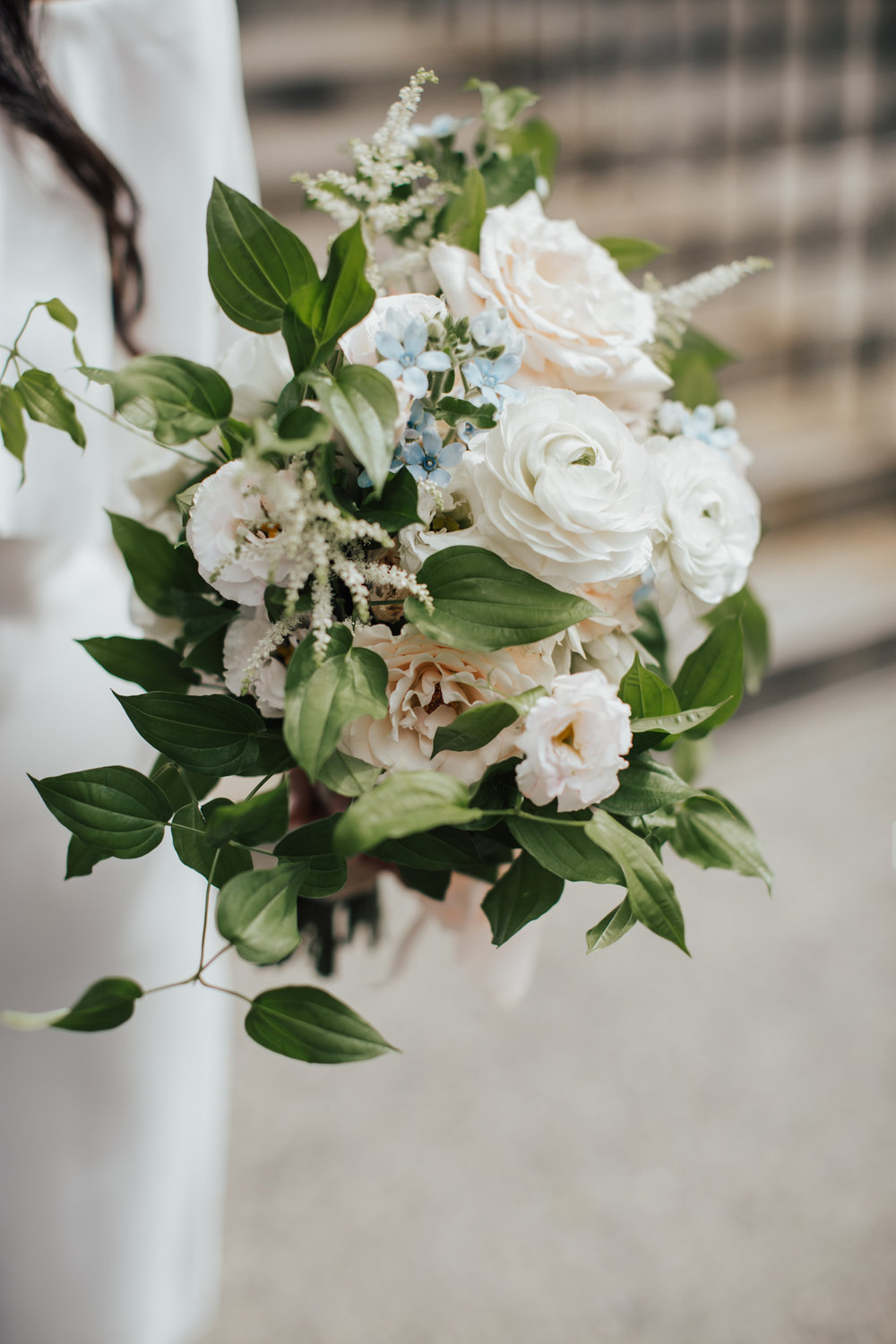 bride bouquet green