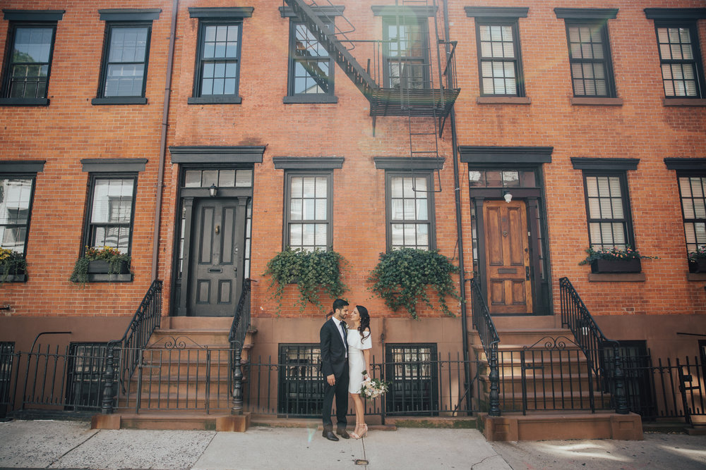 west village bride and groom