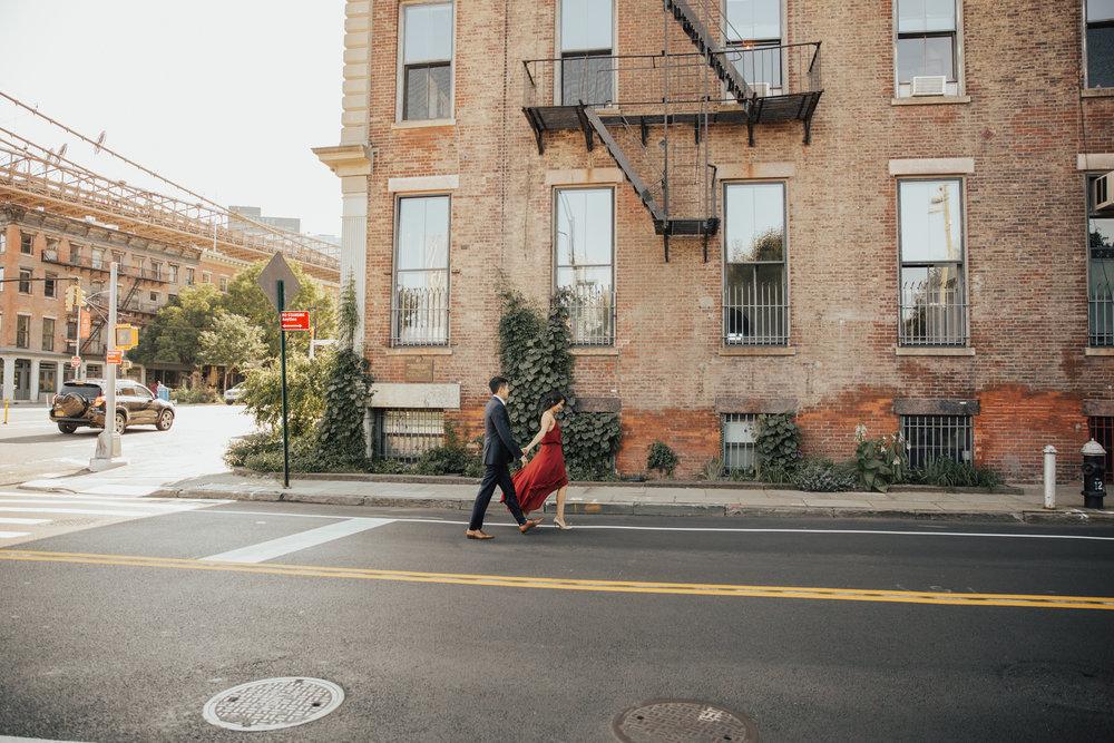 lifestyle new york engagement photos
