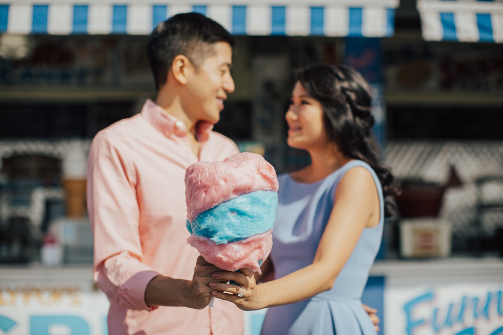 cotton candy engagement photos