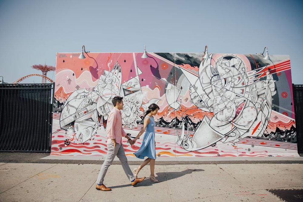 nyc graffiti engagement shoot