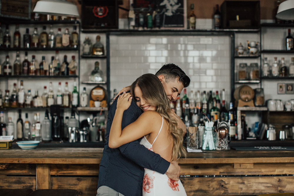 brooklyn bar engagement photos