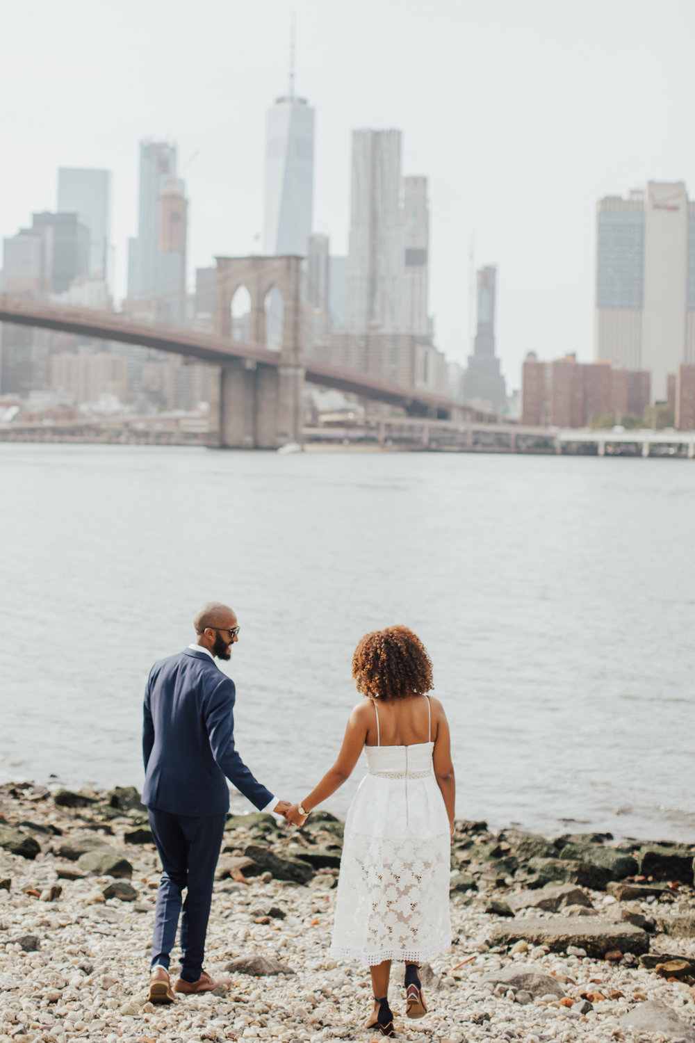 dumbo summer engagement shoot