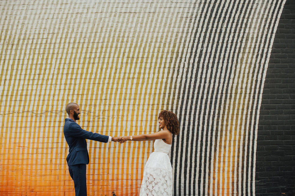fun dumbo brooklyn engagement photos