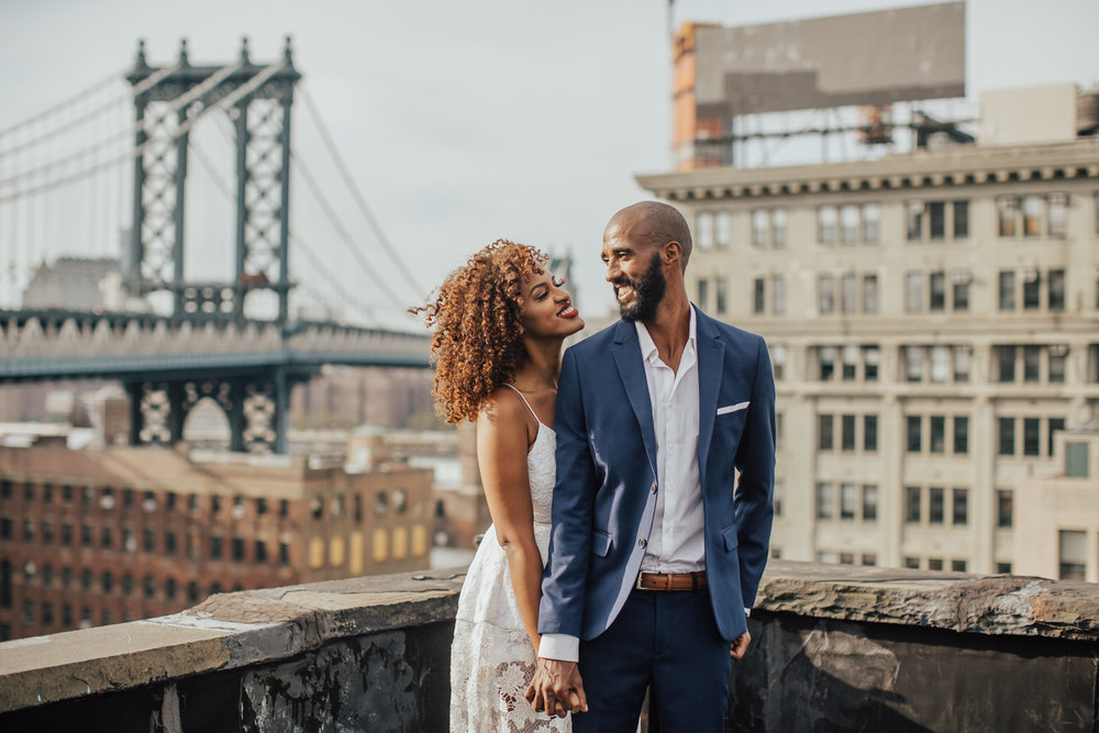 brooklyn rooftop engagement photos