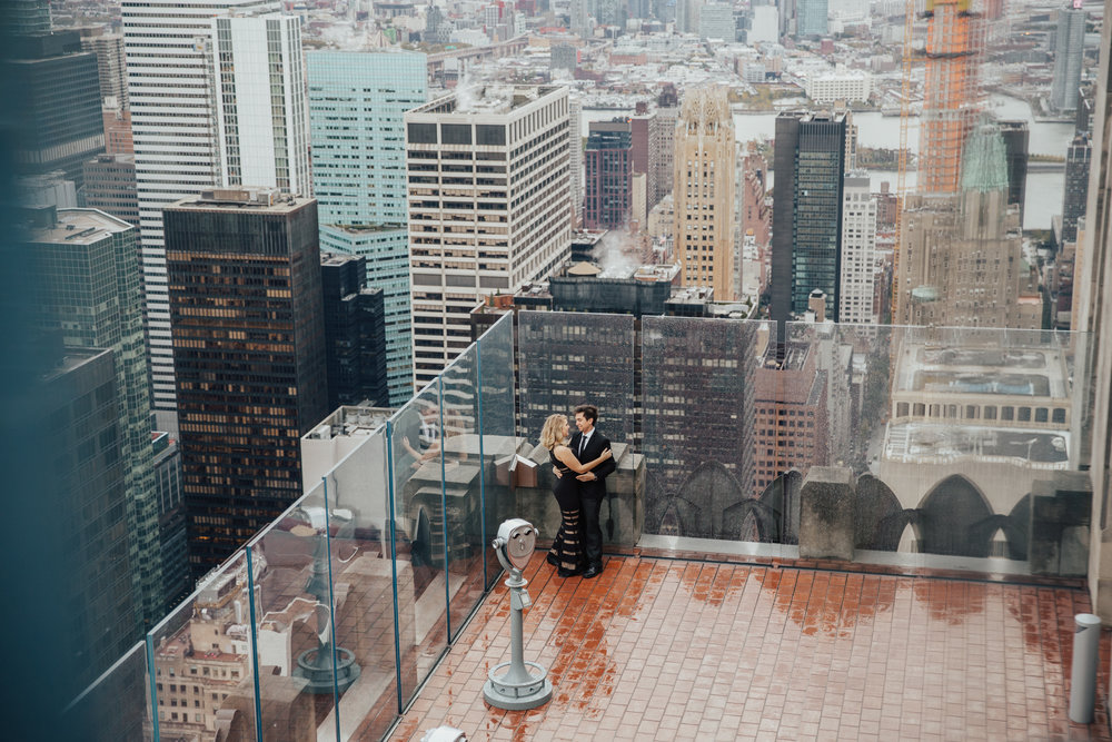 top of the rock engagement photos