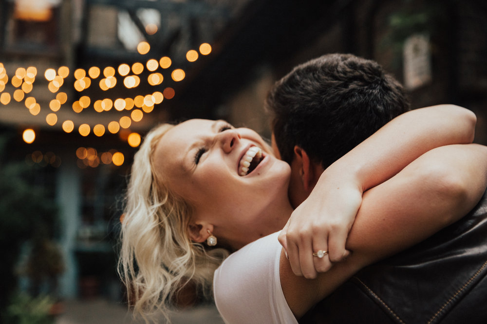 summer engagement shoot nyc