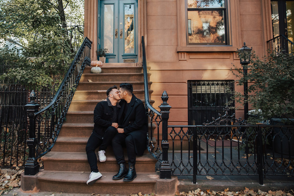 brooklyn gay couple engagement photos