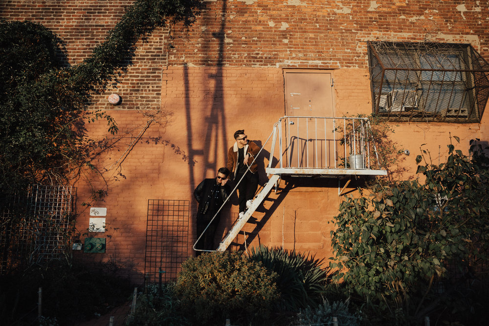fire escape engagement photos