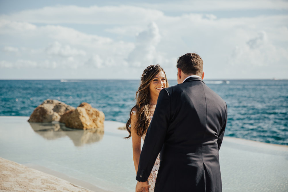 sunset beach wedding photos