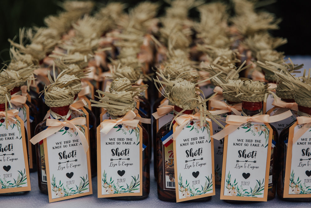 mamajuana wedding favors