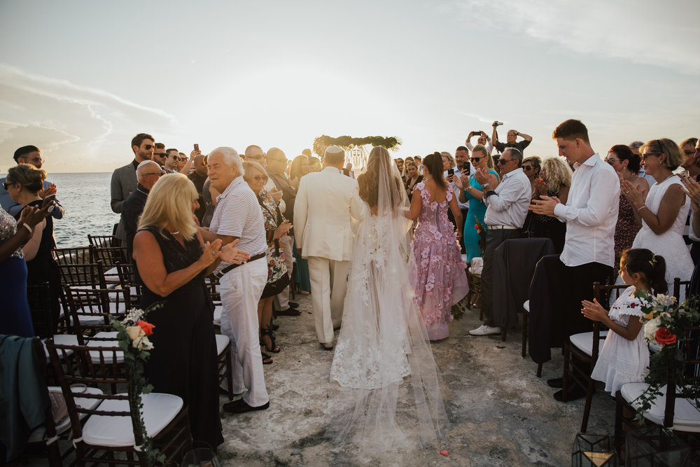 sunset cliff wedding ceremony