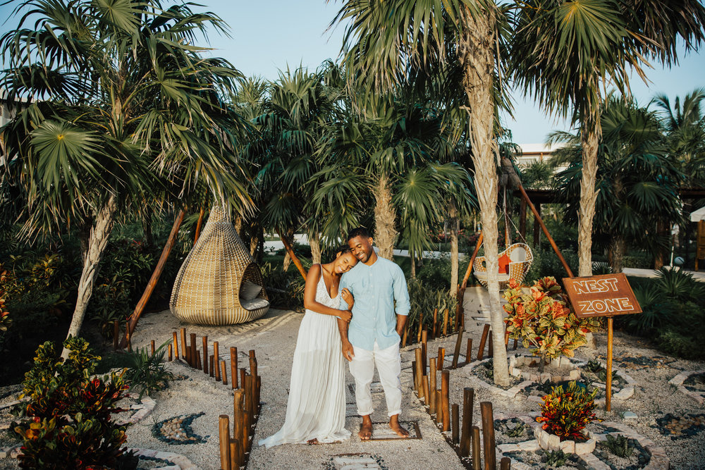 Destination Wedding tropical details