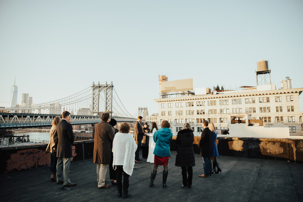 nyc rooftop elopement