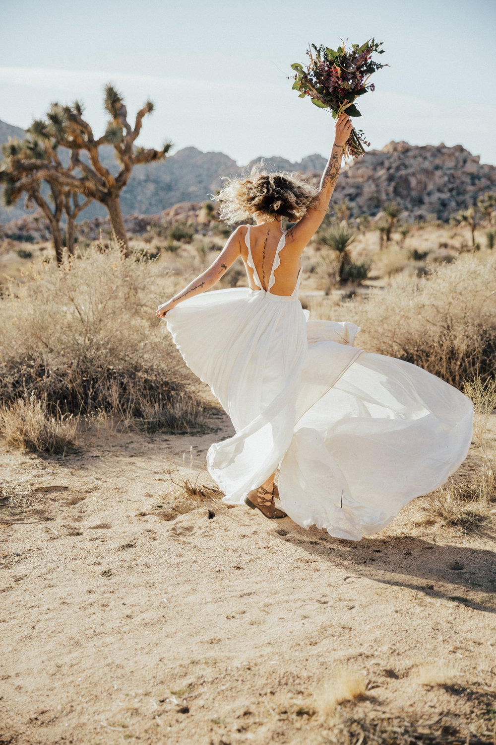 bride spinning in wedding dress