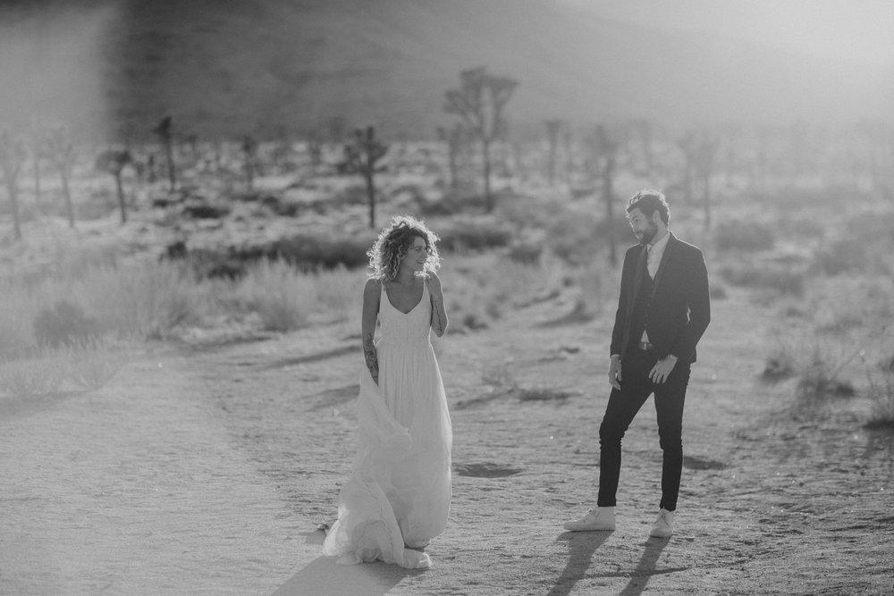 boho bride desert elopement
