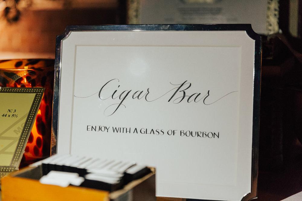 wedding cigar bar