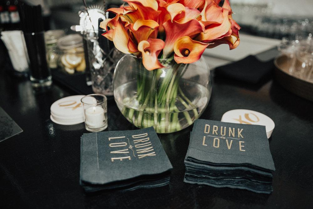drunk in love napkins