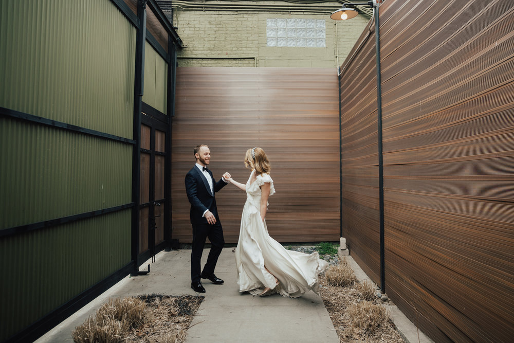 green building wedding