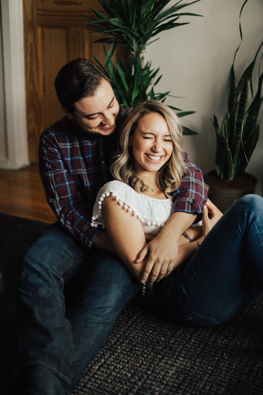sweet and cozy engagement