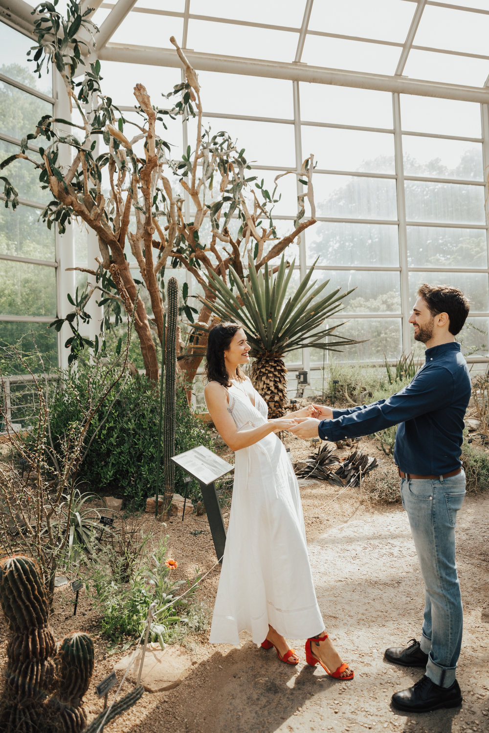 greenhouse engagement session nyc