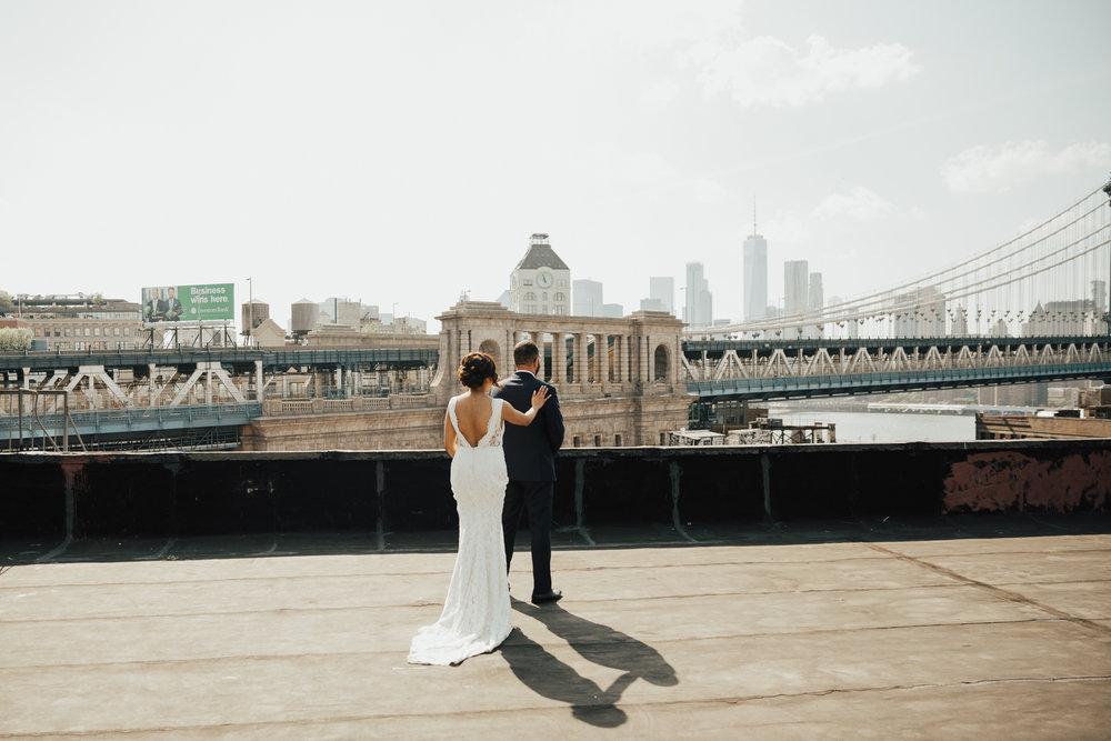 NYC romantic wedding photography