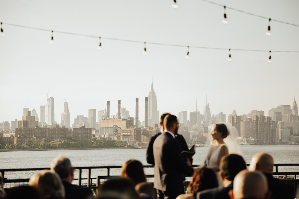 brooklyn rooftop intimate wedding