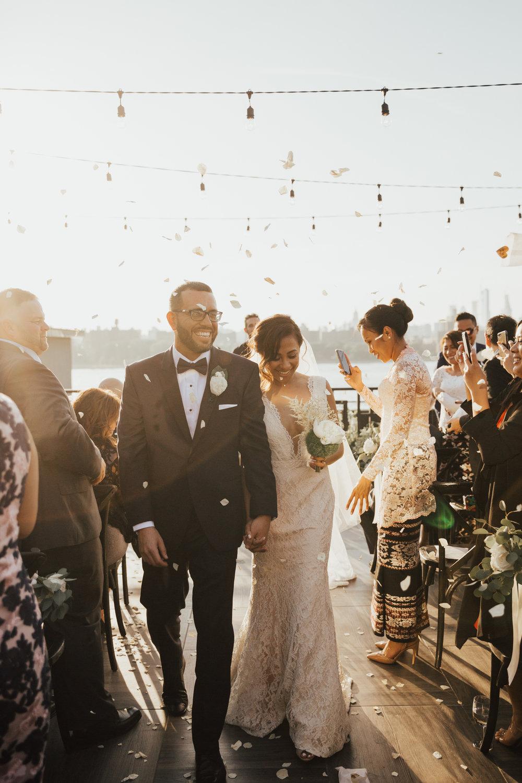 rose petals wedding