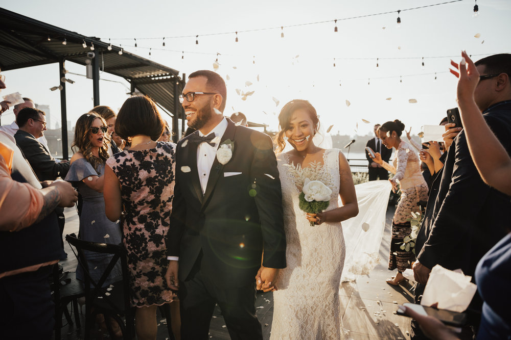 rose petals wedding ceremony