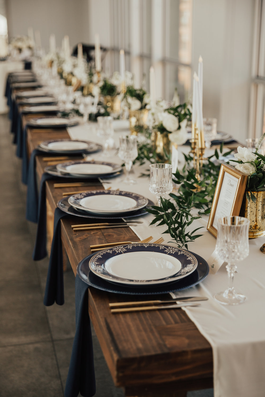 modern chic wedding reception