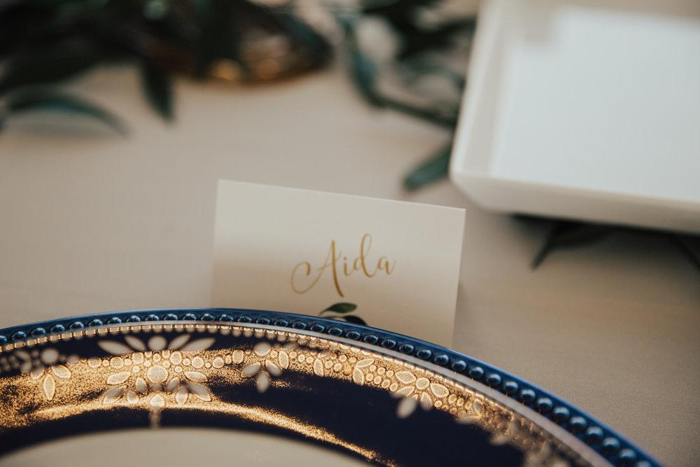 boho chic navy gold wedding