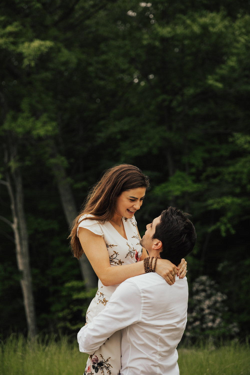 Brooklyn botanic garden engagement shoot