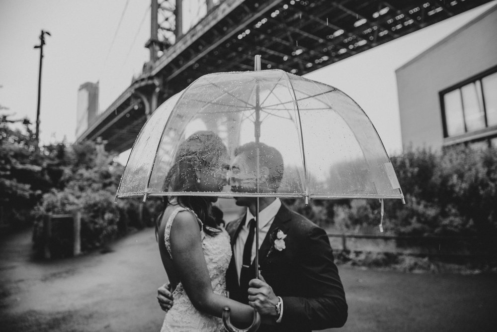 dumbo brooklyn rainy elopement