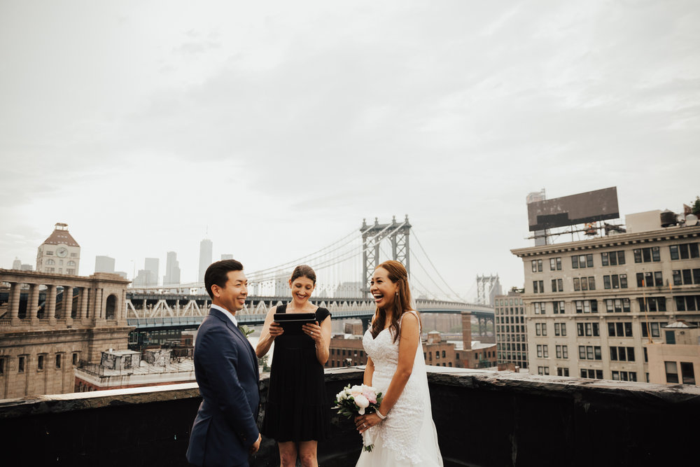 brooklyn rooftop elopement